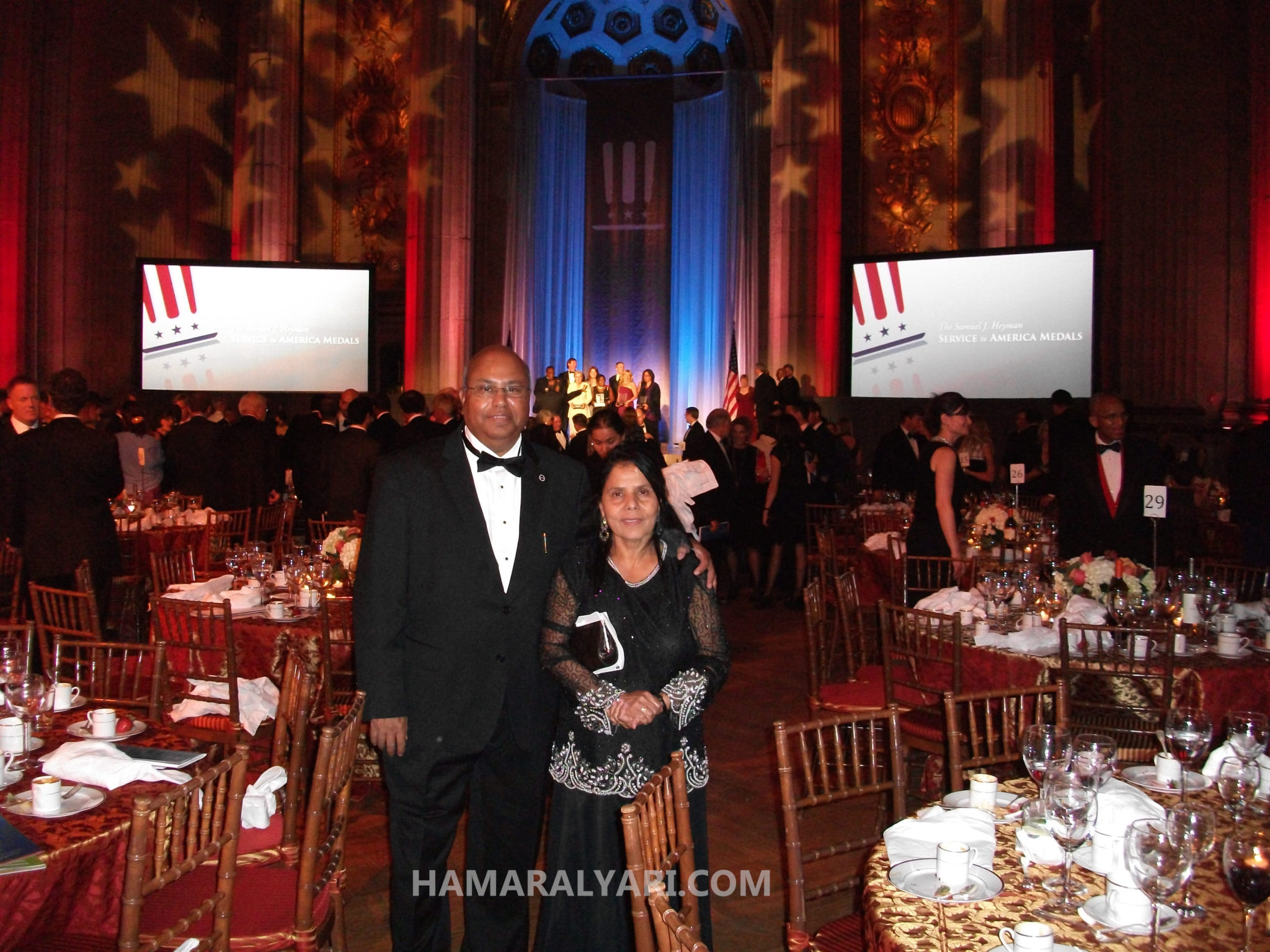Dr. Ansari and wife at the Samuel J. Heyman Service to America Medals Award ceremony in Washington DC