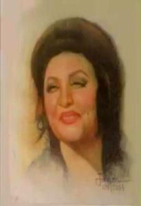 Noor Jehan Portrait by Jawad Baloch