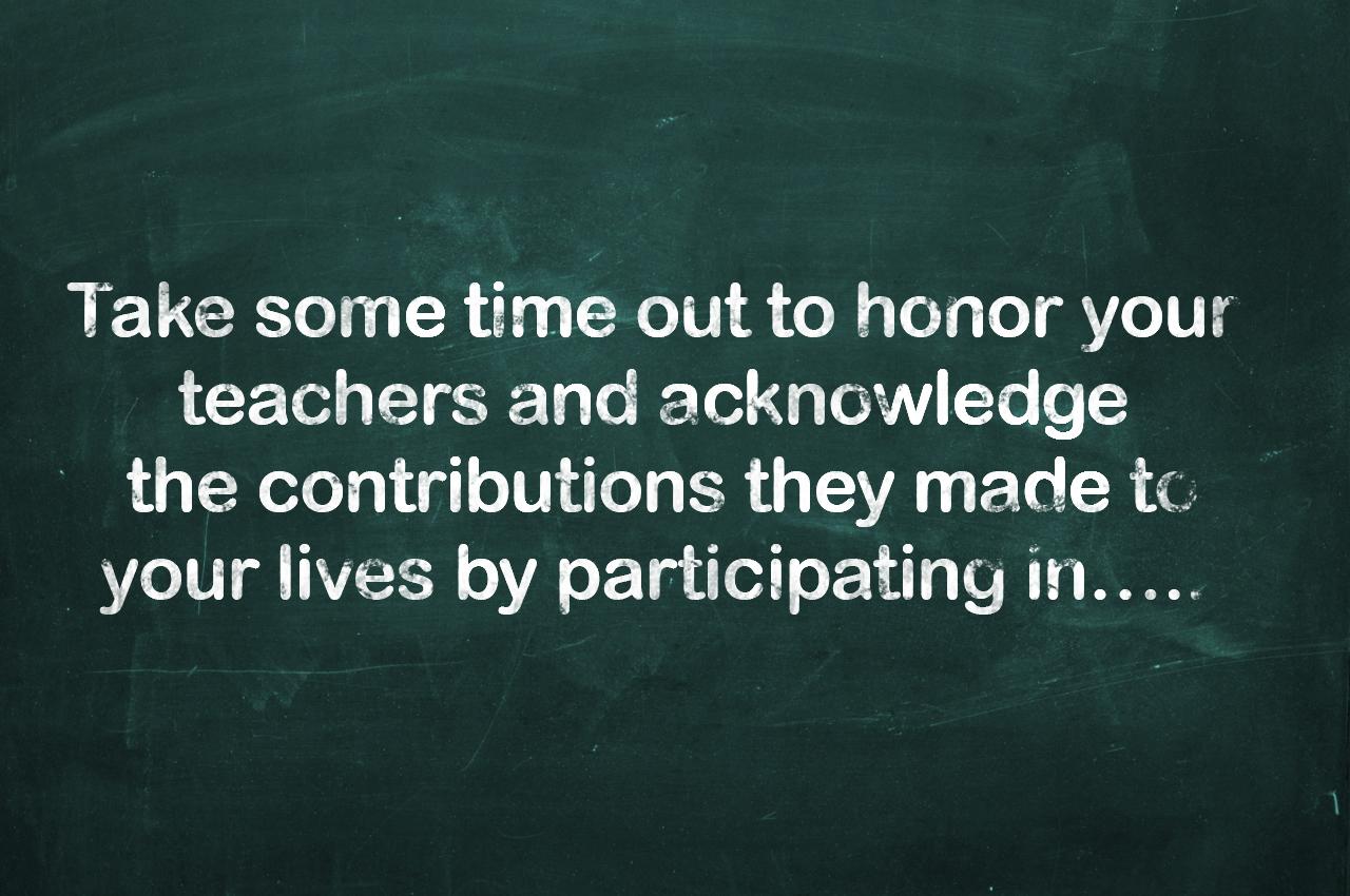 World's Teachers' Day