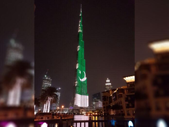 Dubai's Burj Khalifa, Burj Khalifa,, Pakistan Day